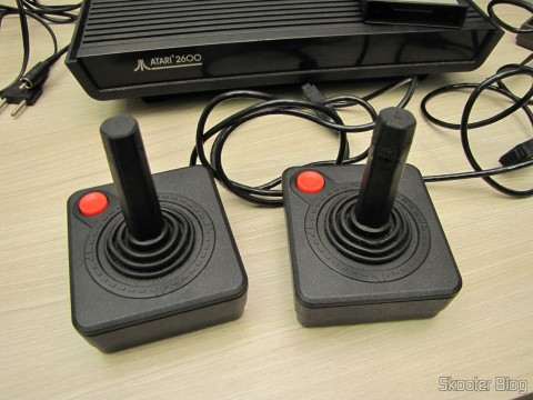Joysticks accompanying the Atari 2600