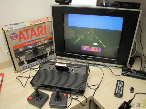Atari 2600 operation, with the game Enduro Activision