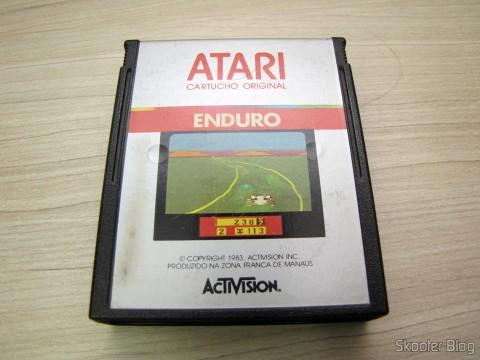 Cartucho do jogo Enduro, do Atari 2600