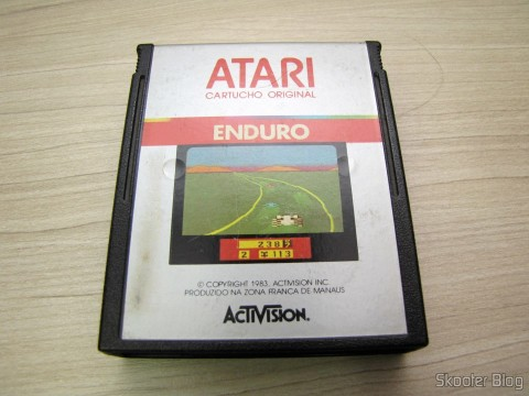 Cartucho do jogo Enduro, do Atari 2600