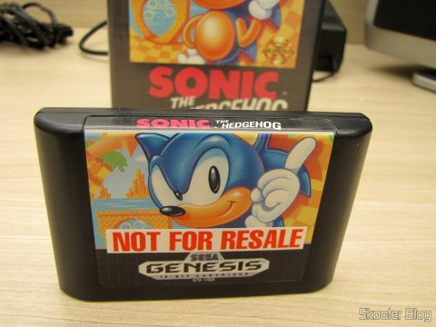 Cartucho Sonic The Hedgehog do Sega Genesis