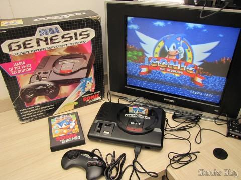 Sega Genesis, em funcionamento