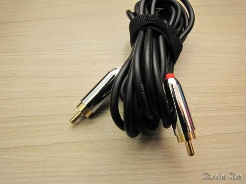 Cabo P2 Estéreo <-> RCA Duplo para conectar o áudio do Atari VCS/2600