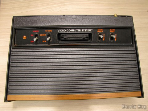 Atari VCS / 2600 with S-Video, Composite Video, Stereo Audio, and Pause, after cleaning