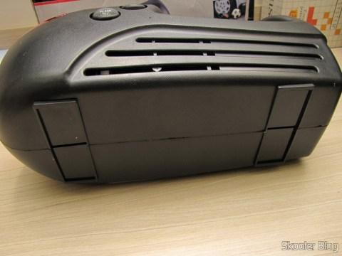Mini Compressor/Bomba de Ar para Carro 12V (Mini Car Air Pump Compressor Tire Gauge - Black + Silver (DC 12V))