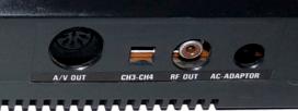 Saídas do Master System norte-americano, plug DIN para A/V e RGB