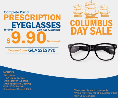 Óculos de Grau Completo por apenas US$ 9,90 na Goggles4U