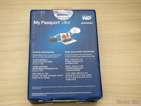 Hard disc (HD) Externo Western Digital (WD) My Passport Ultra 1TB Portátil Externo USB 3.0, on its packaging