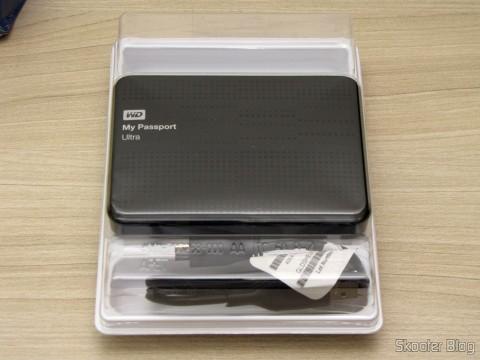 Desembalando o Disco Rígido (HD) Externo Western Digital (WD) My Passport Ultra 1TB Portátil Externo USB 3.0,