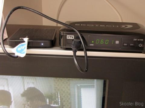 Hard disc (HD) Externo Western Digital (WD) My Passport Ultra 1TB Portátil Externo USB 3.0 in use in Digital Terrestrial TV receiver Ekotech ZBT-670N