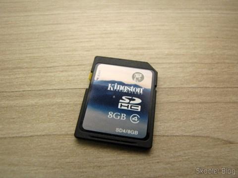 Cartão SDHC 8GB Kingston que acompanha o Harmony Cartridge - O cartucho com memória flash para o Atari 2600