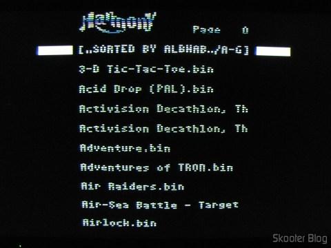 Tela do Harmony Cartdrige - The cartridge with flash memory for the Atari 2600