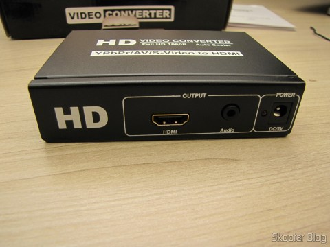 Front part of the Component Video Converter (YPbPr), S-Video, Composed Video (CVBS) and Stereo Audio to HDMI (YPbYPbPrCVBCVBSS-video to HDMI Video Converter - Black (100~ 240V))