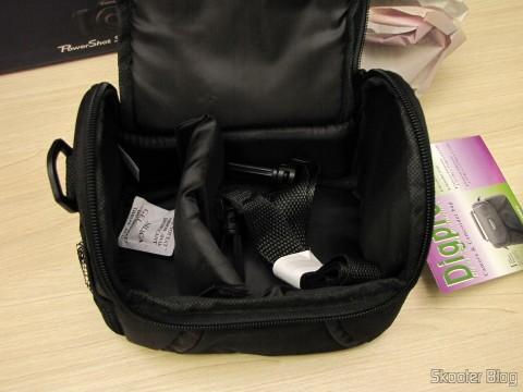 Bolsa do Pacote Definitivo 32GB com Cartão de Memória SD de 32GB, Bolsa, Bateria NB-10L, Carteira de Cartões de Memória, Leitor de Cartões SD USB, Mini Tripé, Cabo A/V Mini-HDMI para HDMI, Protetores de tela LCD, e Kit de Limpeza de Lentes