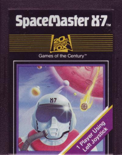 O cartucho do SpaceMaster X-7, nome original do jogo da 20th Century Fox / Fox Video Games