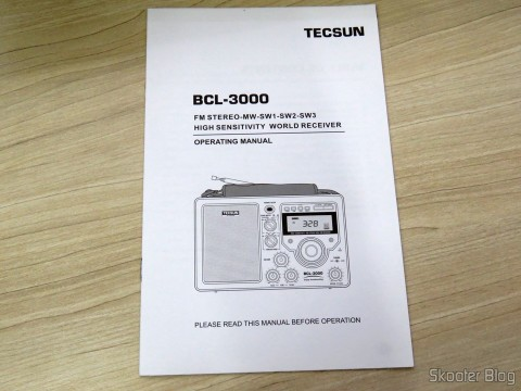 Radio Instruction Manual Tecsun BCL-3000 with Analog Tuner and Digital Display AM / FM / SW World