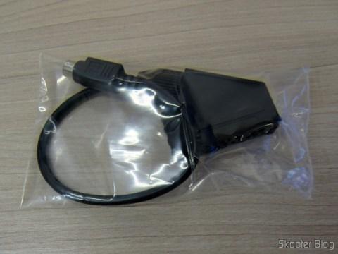 Conversor de EuroSCART para o Framemeister XRGB Mini, em sua embalagem