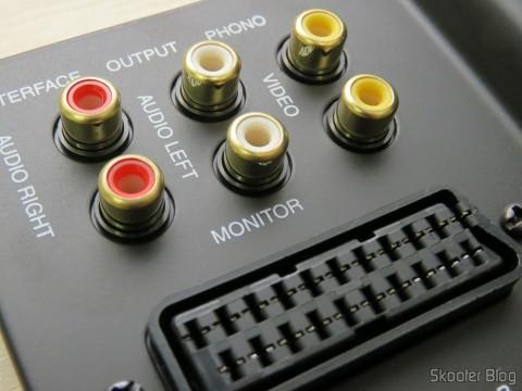 Conectores RCA no Switch SCART RGB de metal com 3 entradas e 1 saída