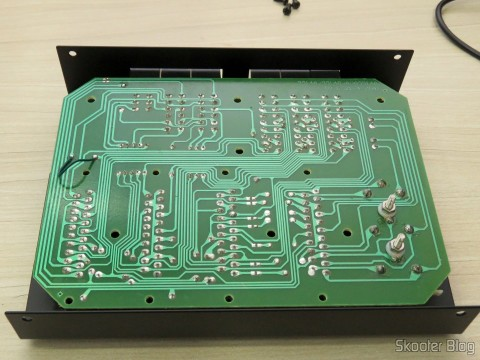 SCART RGB Switch metal case with 3 inputs and 1 output, inside