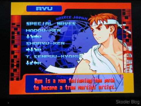 Street Fighter Alpha 3 do Playstation One no Framemeister XRGB Mini