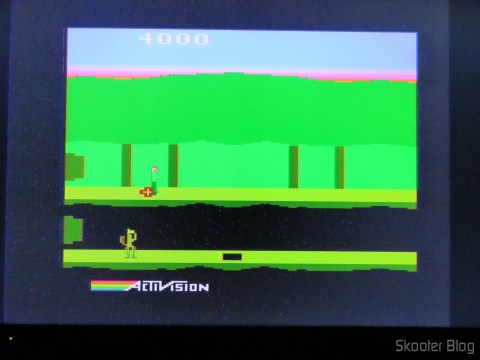 Pitfall II no Atari 2600 via Framemeister, initially there are some artifacts