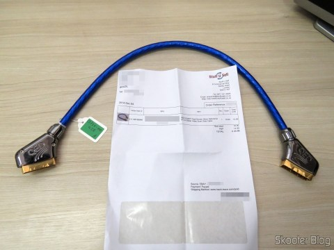 QED SQART Dual Screen Silver Reference AV 0.5 Meter Video Scart Data Cable e invoice