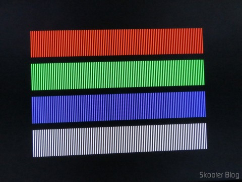 Imagem do 240p test suite através do Cabo SCART RGB para Super Nintendo (SNES) NTSC / PAL-M com CSYNC