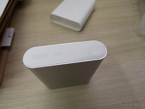 XIAOMI Genuine 10400mAh USB Mobile Power Source Bank w/ 4-LED Indicators - Silver + White