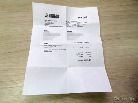 Invoice do Master Everdrive (Deluxe Edition)