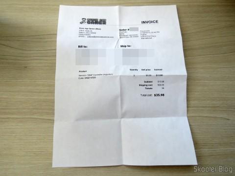 """Invoice dos Genesis """"GN6"""" Controller (Hyperkin)"""
