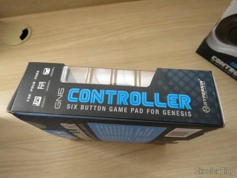 """Embalagem do Genesis """"GN6"""" Controller (Hyperkin)"""