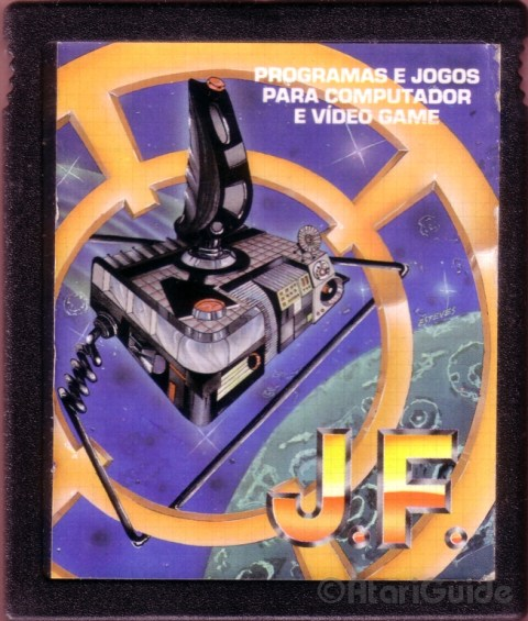 Cartridge typical J.F. with Atari games 2600, Generic cover unrelated to the games contained in the cartridge
