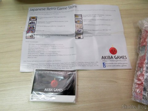 Paperwork that the seller sent along with the Sony Playstation SCPH-1160 AV Adapter