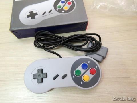 Controle Clássico com Fio para Super Nintendo SNES e Retro-Duo TX Tech