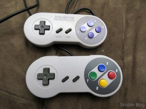 Controle Original do Super Nintendo e Controle Clássico com Fio para Super Nintendo SNES e Retro-Duo TX Tech