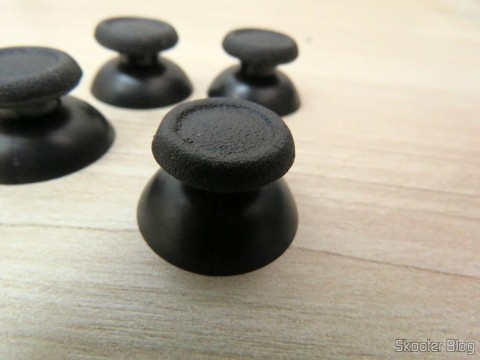 Replacement Plastic 3D Joystick Cap for PS4 – Black (4 PCS)