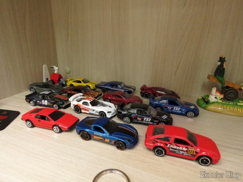 My small fleet of Hot Wheels