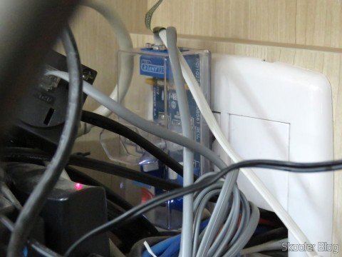 Clamper Tel - DPS protegendo o modem ADSL, telefone e multifuncional
