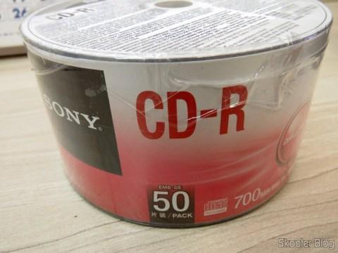Embalagem com 50 CD-R Sony