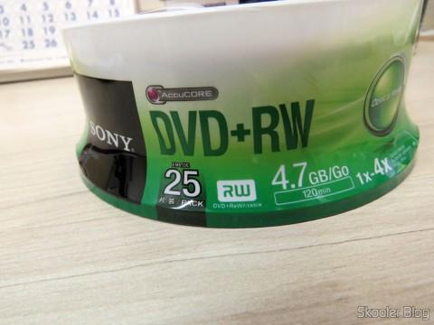 Embalagem com 25 DVD+RW Sony