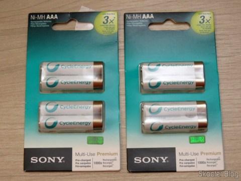 Pilhas Recarregáveis Sony Cycle Energy AAA