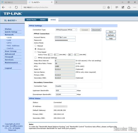 Configurando a conexão PPPoE da Vivo Internet Fixa no roteador