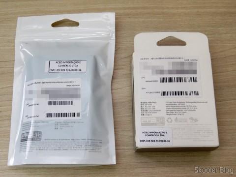 ASUS ZenPower 10050 mAh e Bumper, em suas embalagens