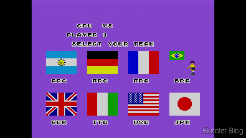The selections in the Super Soccer - Master System