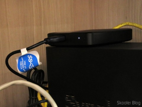 HD Externo Portátil WD My Passport Ultra 2TB (WDBBKD0020BBK-NESN) conectado ao NAS Synology DS214play