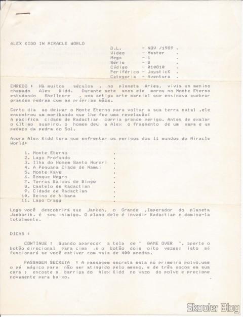 Dicas da Tec Toy: Alex Kidd in Miracle World - Página 1
