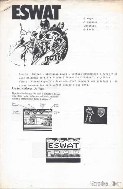 Tec Toy tips - ESWAT - Master System - Page 1