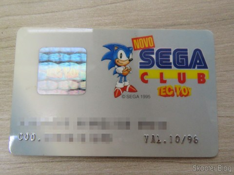 Cartão do Novo Sega Club da Tec Toy