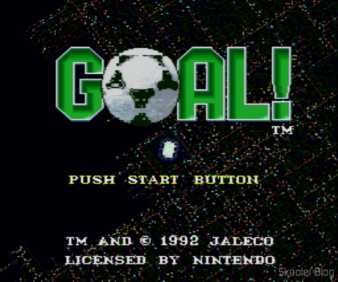Goal! - Super Nintendo - The title screen