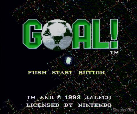 Goal! - Super Nintendo - A tela de título